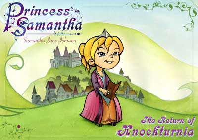 Fairy tale book cover for the first Princess Samantha book.