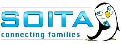 Soita logo and mascot.