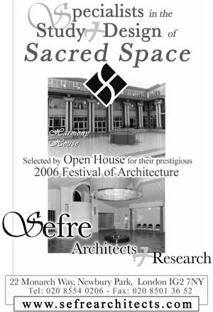 Newspaper advert for Sefre Architects.