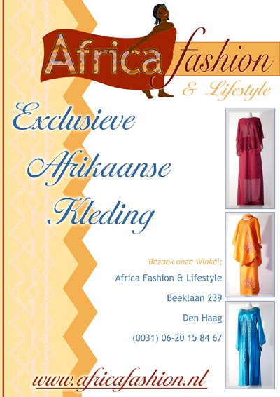 Flyer designed for Africa Fashion.