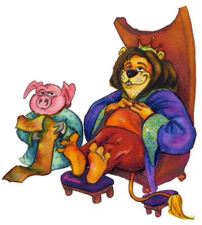Lion Cartoon Characters on King Lion Illustration