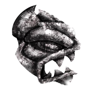 Gargoyle head, created in Adobe Illustrator.
