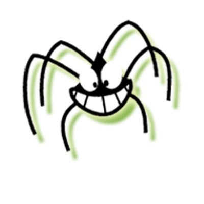 The Spinnekoppens spider mascot.