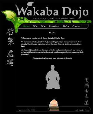 Website for martial arts training group - Wakaba. The site was put online 2009.