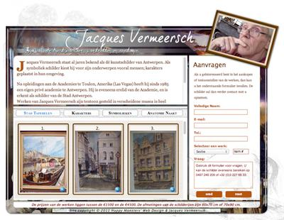 A simple site designed to promote noted Belgian artist, Jacques Vermeersch.
