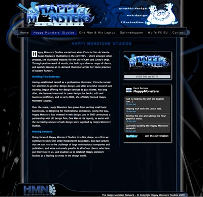 second web design example