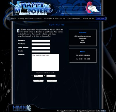 fourth web site sample